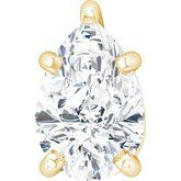 Pear 5-Prong Solitaire Necklace or Slide Pendant