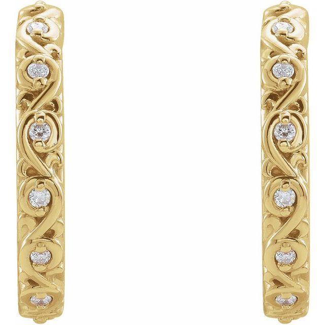 0.06 CTW .06 CTW Diamond Sculptural Hoop Earrings