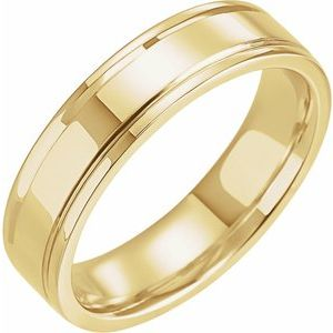 14K Yellow 5 mm Grooved Band Size 10