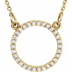 """14K Yellow 1/8 CTW Diamond 16"""" Necklace"""