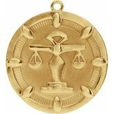 Scales of Justice Medallion Dangle
