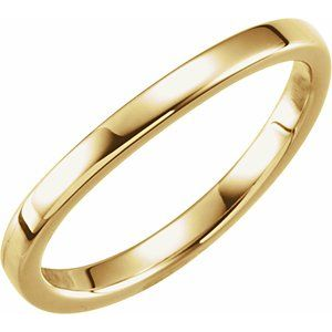 14K Yellow 1.65 mm Ladies Stackable Band Size 6.5
