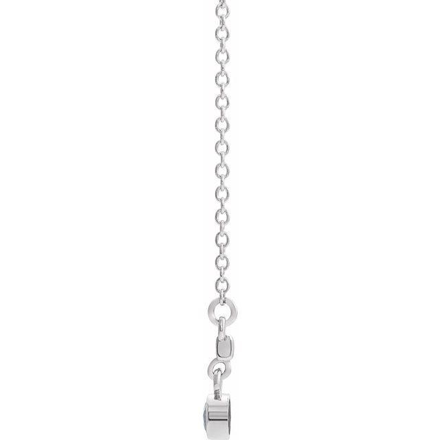 14K White Diamond Bezel-Set 18