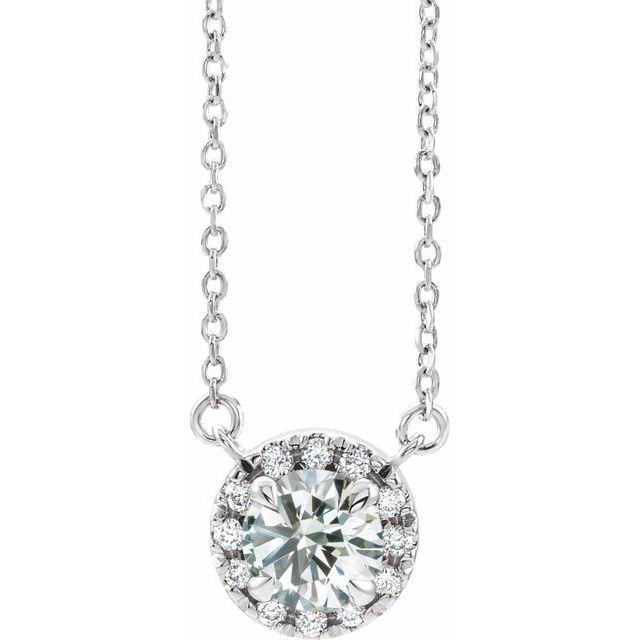 14K White 1/5 CTW Lab-Grown Diamond French-Set 16-18