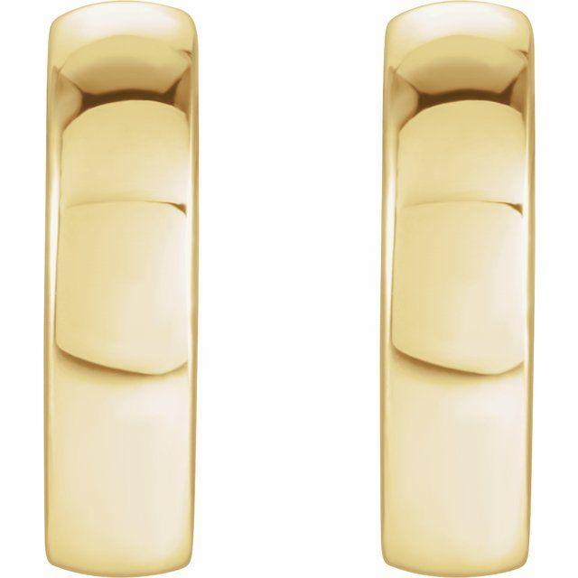 14K Yellow 9.5 mm Huggie Earrings