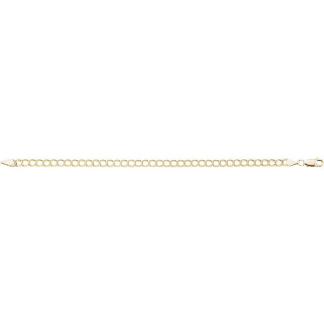 14K Yellow 4 mm Solid Charm 7