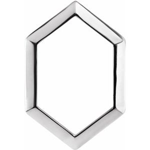 Sterling Silver 21.68x14.55 mm Geometric Pendant