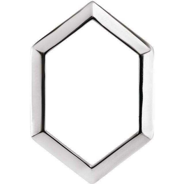 Sterling Silver 21.68x14.55 mm Geometric Pendant