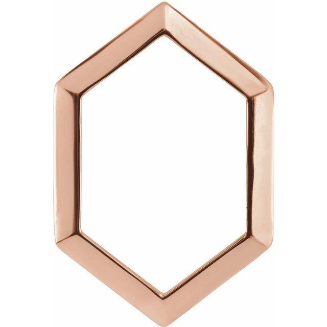 14K Rose 21.68x14.55 mm Geometric Pendant