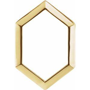 14K Yellow 21.68x14.55 mm Geometric Pendant