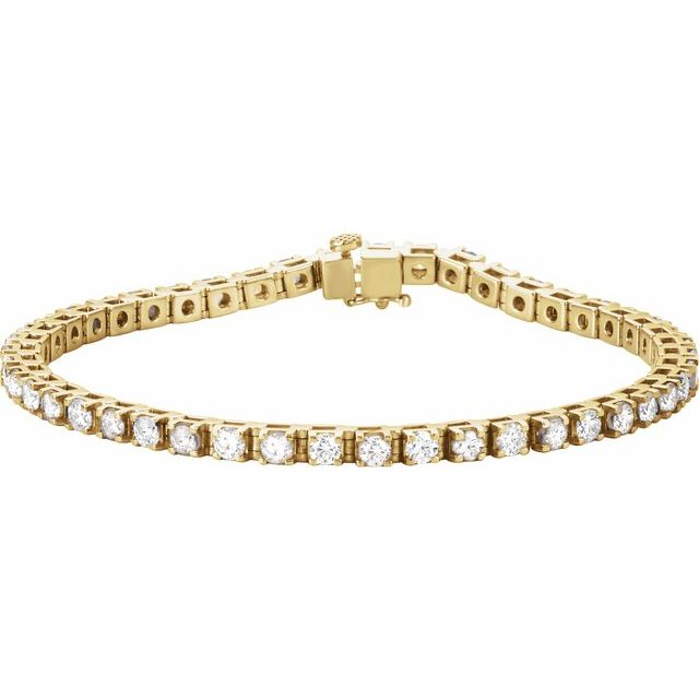 "14K Yellow 4 3/4 CTW Diamond Line 7"" Bracelet"