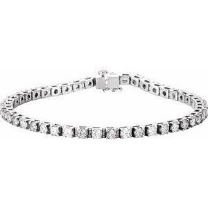 "14K White 4 3/4 CTW Lab-Grown Diamond Line 7"" Bracelet"