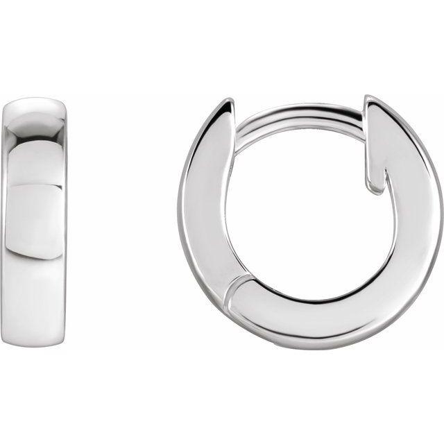 Sterling Silver 9.5 mm Huggie Earrings