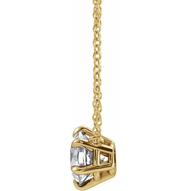 14K Yellow 1/3 CT Diamond Solitaire 18