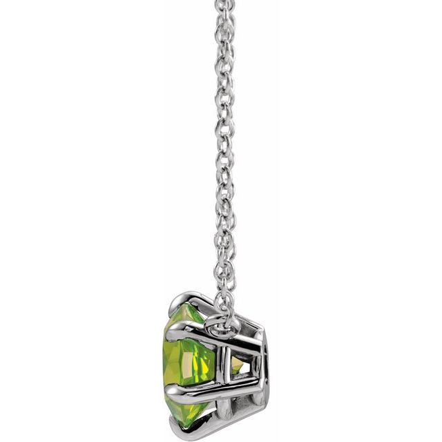 Sterling Silver Peridot Solitaire 16