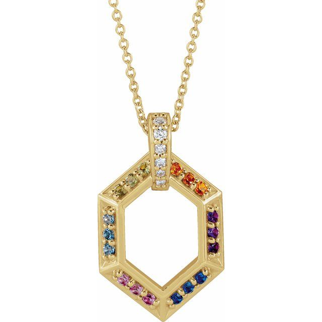 14K Yellow 6-Stone Groups .06 CTW Diamond Semi-Set Family 16-18