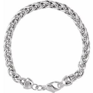 "Sterling Silver Wheat 7"" Bracelet"