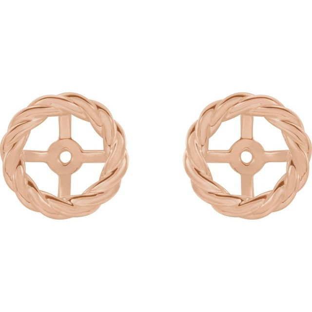 14K Rose Rope Earring Jackets