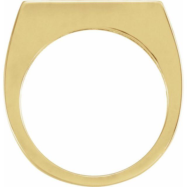 14K Yellow 3 mm Engravable Stackable Ring