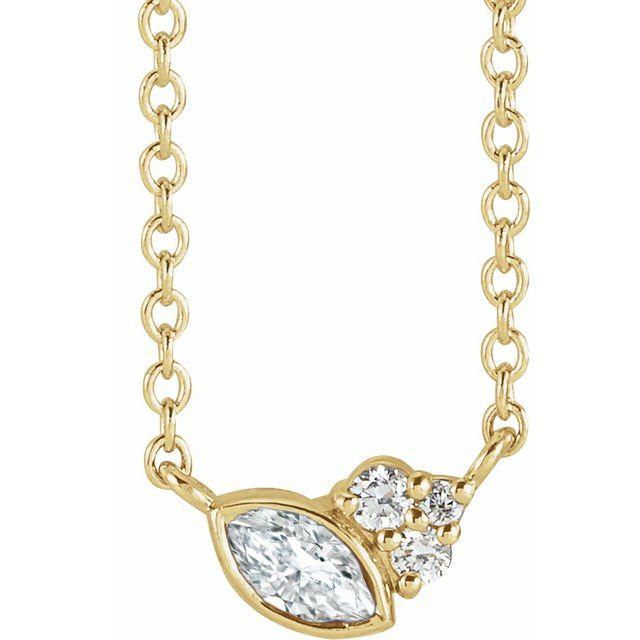 14K Yellow 1/10 CTW Diamond 16