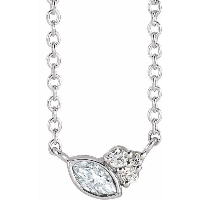14K White 1/10 CTW Diamond 18