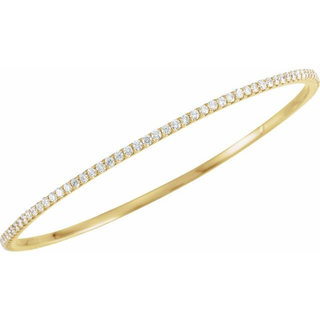 14K Yellow 3 CTW Diamond Stackable Bangle 8