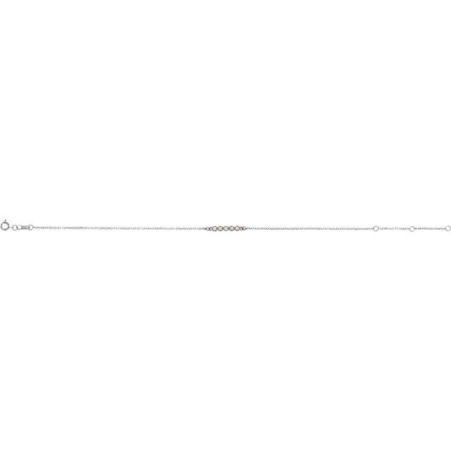 14K White.07 CTW Diamond Bar 6 1/2-7 1/2