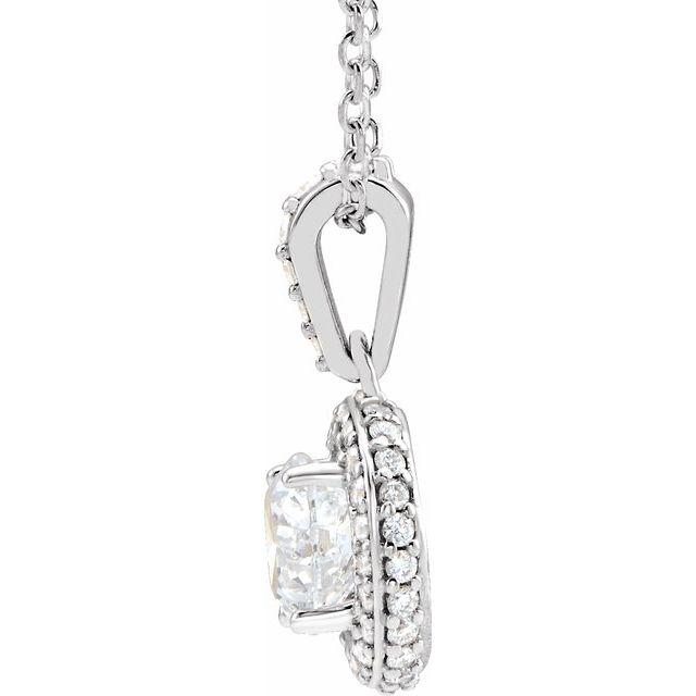 14K White 3/8 CTW Diamond 18