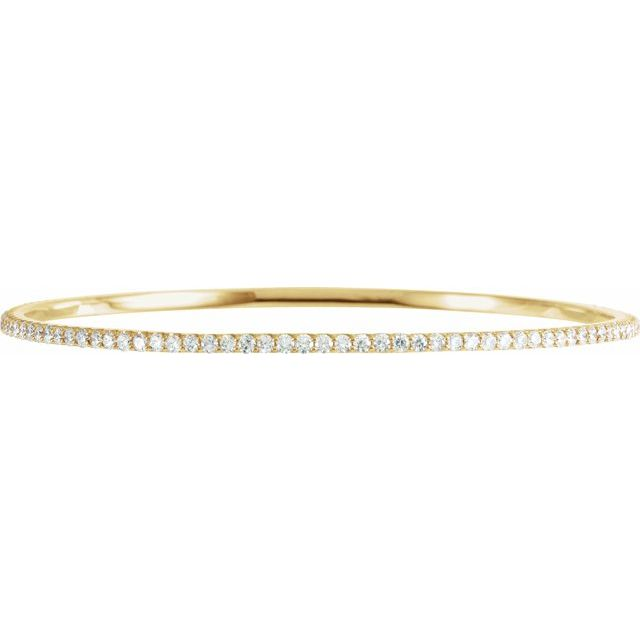 "14K Yellow 3 CTW Diamond Stackable Bangle 8"" Bracelet"