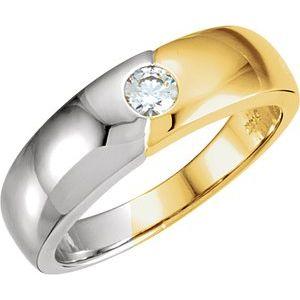 14K Yellow/White 1/4 CTW Diamond Band