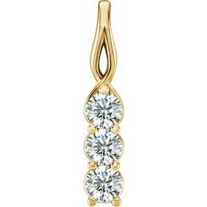 14K Yellow 1/3 CTW Diamond 3-Stone Pendant