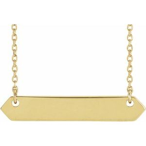 """18K Yellow Gold-Plated Sterling Silver 33x6 mm Geometric 16-18"""" Necklace"""