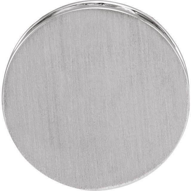 Sterling Silver 17 mm Engravable Scroll Disc Slide Pendant