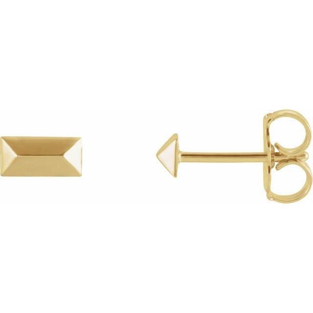 14K Yellow Geometric Stud Earrings