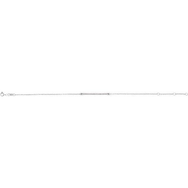 14K White .07 CTW Diamond Bar 6 1/2-71/2