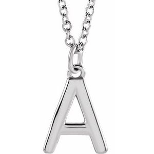 "Sterling Silver Initial A Dangle 18"" Necklace"