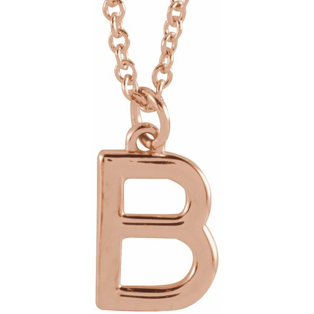 18K Rose Gold-Plated Sterling Silver Initial B Dangle 18