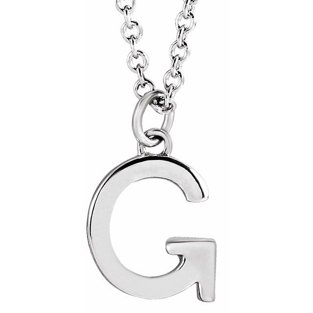 Sterling Silver Initial G Dangle 16
