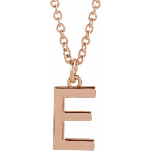 18K Rose Gold-Plated Sterling Silver Initial E Dangle 18