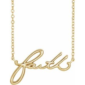 "14K Yellow Faith 16"" Necklace"
