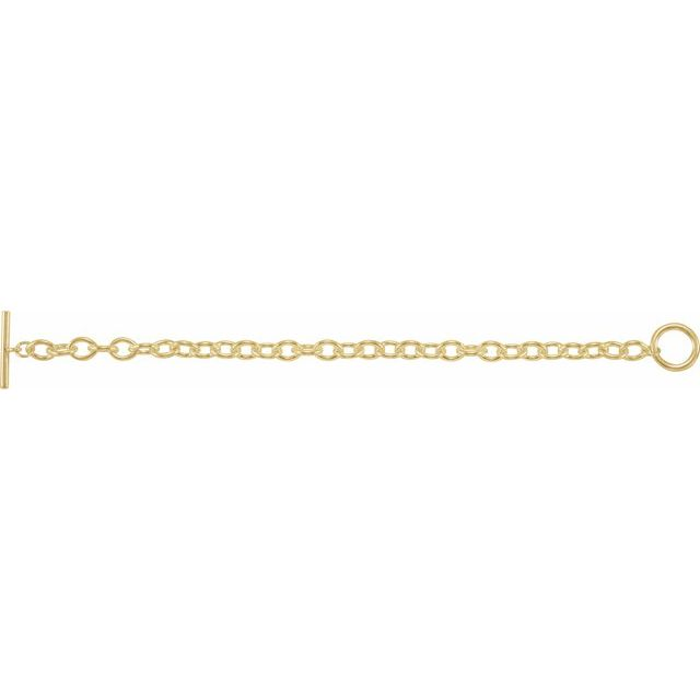 Yellow-Plated Sterling Silver Toggle 8