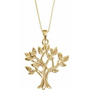"14K Yellow  My Tree™ Family 16-18"" Necklace"