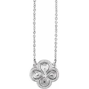 """Sterling Silver 18"""" Clover Necklace"""