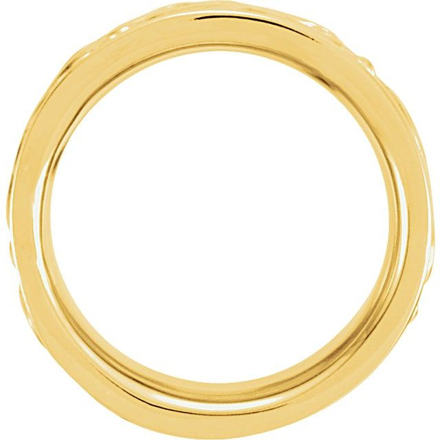 14K Yellow 8.5 mm Etruscan-Style Band Size 8