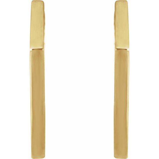 14K Yellow 15.76 mm Geometric Hoop Earrings