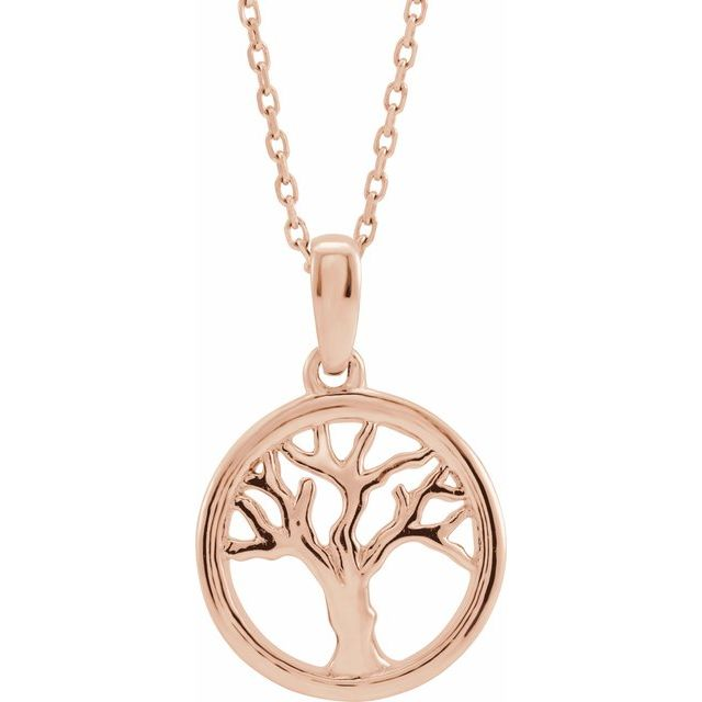 14K Rose Tree of Life 16-18