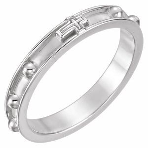 Sterling Silver Rosary Ring Size 12