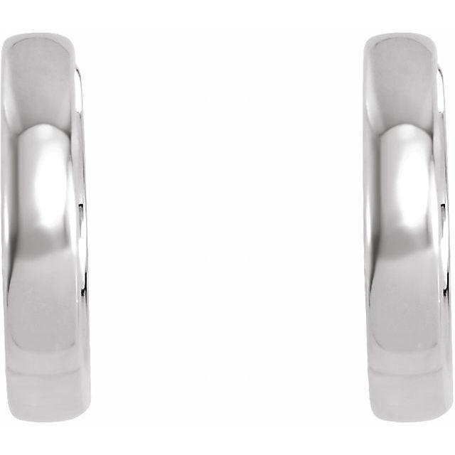 Platinum 14 mm Hinged Hoop Earrings