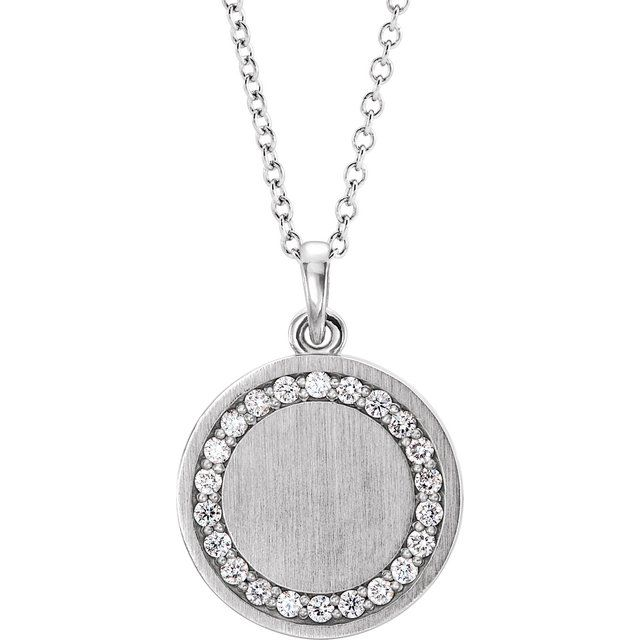 14K White 1/5 CTW Diamond Engravable 16-18