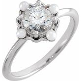 Pearl Accented Engagement Ring or Band
